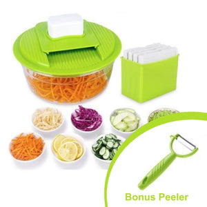 By Chef JoJo, Mandoline Fruit & Vegetable Slicer INCL BONUS Fruit & Vegetable Peeler