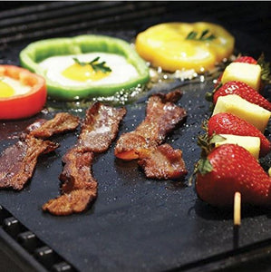 3PCS Non-Stick BBQ Magic Grill Mat Perfect for Baking on Gas Heat Resistant