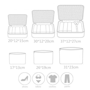 From Bye JoJo,  6PCS/Set High Quality Oxford Cloth Travel Mesh Bag In Bag Luggage Organizer Packing Cube Organizer for Clothing