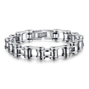Bike Chain Stainless Steel Bracelet 8.5 inch