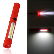 By Industrial TJJ, Magnetic Portable Ultra Bright COB Pen Shape Light Flashlight Torch Work Lamp 2 Mode with Clip