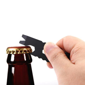 Multi-Tool Beer Bottle Opener /6 Specification Wrench /Crowbar/Key Chain/Nail Device /Screwdriver Wine Can Gadgets Key