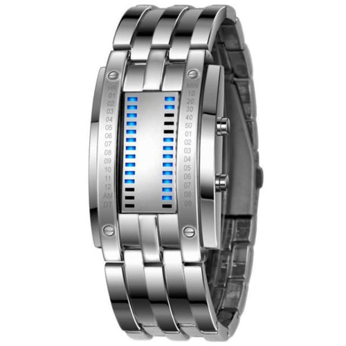 Men's Stainless Steel Date Digital LED Bracelet Sport Watches