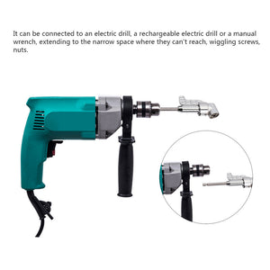 By Industrial TJJ, Right Angle Drill With Fly Handle 105 Degree Right Angle Driver Angle Extension Power Screwdriver Drill Attachment 1/4inch Hex Bit Socket Screwdriver Holder Adapter 360 Degree Adjustable