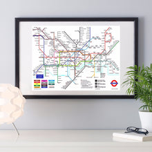 World Subway Metro Map Canvas Art