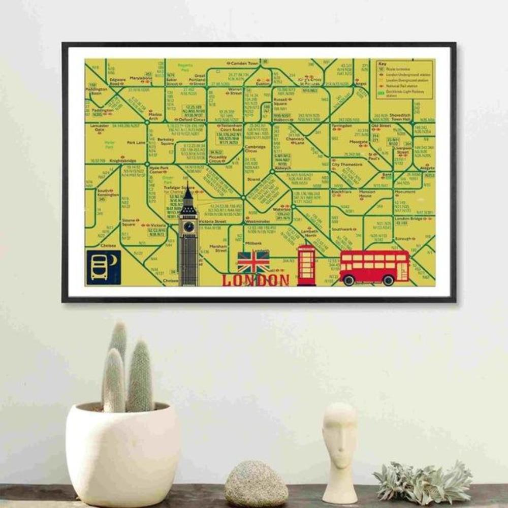 World Subway Metro Map Canvas Art – Team Jo-Jo