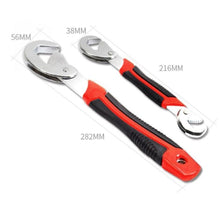 Adjustable Wrench Multi-function Universal Snap'N Grip 0.4-1.5 inches Quick Spanner Set, 2Pcs
