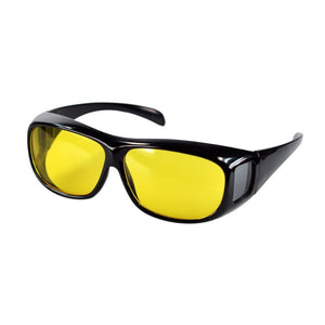 NIGHTWATCH™ NIGHT VISION ANTI-GLARE WRAPAROUND GLASSES FOR BRIGHT & SAFE NIGHT TIME DRIVING