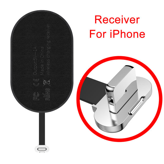 Qi Wireless Charger Receiver For iPhone 7 6 6s 5 Micro USB Type C - Convert any phone to Wireless Charging