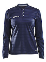 Pro Control Button Jersey LS Women