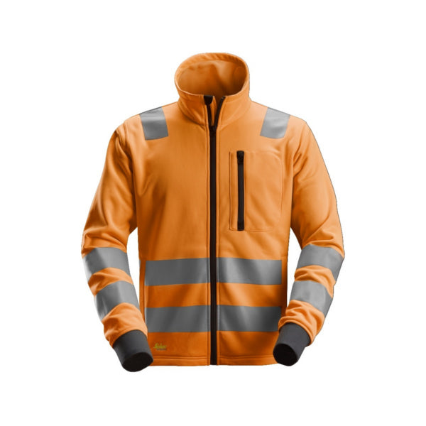 Orange AllroundWork, High-Vis fleecejakke, klasse 2/3