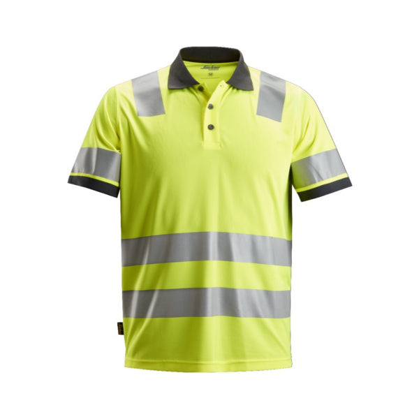 Gul AllroundWork, High-Vis polo shirt, klasse 2