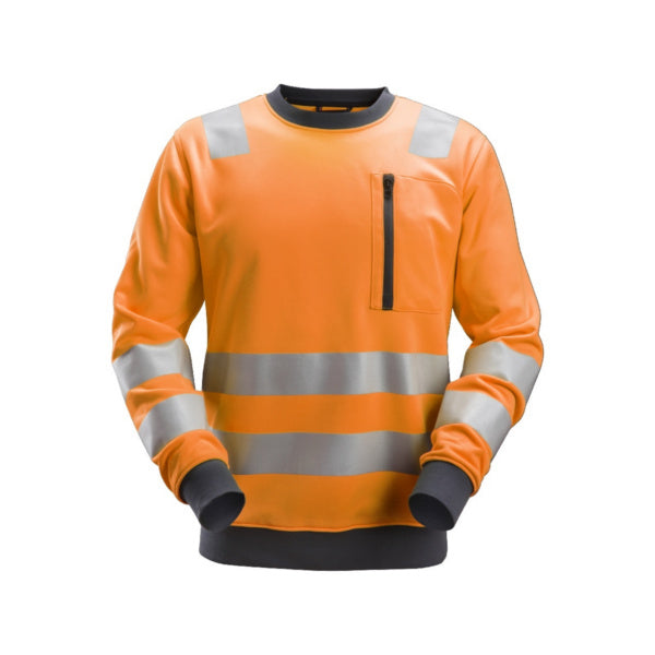 Orange AllroundWork, High-Vis sweatshirt, klasse 2/3