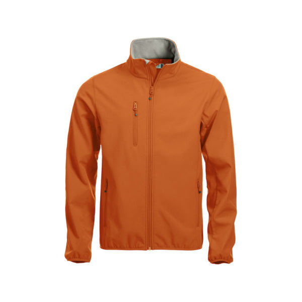 Orange Basic Softhell Jacket fra Clique