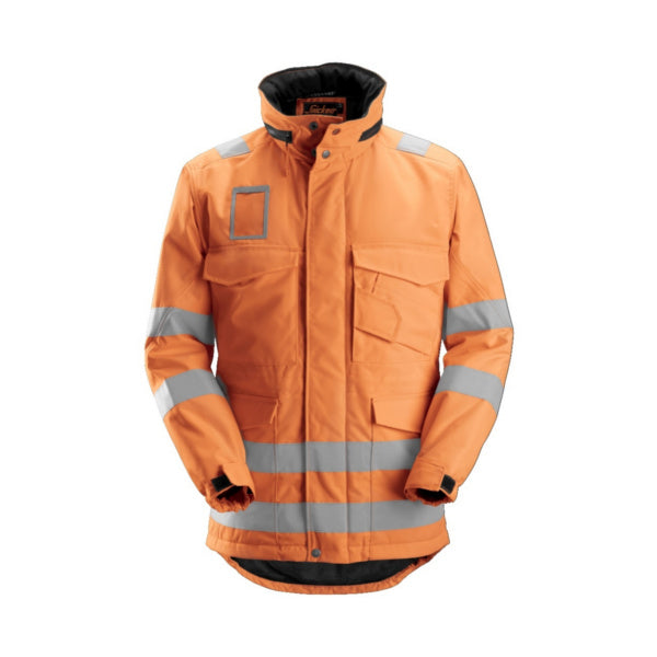 Orange High-Vis lang vinterjakke, klasse 3