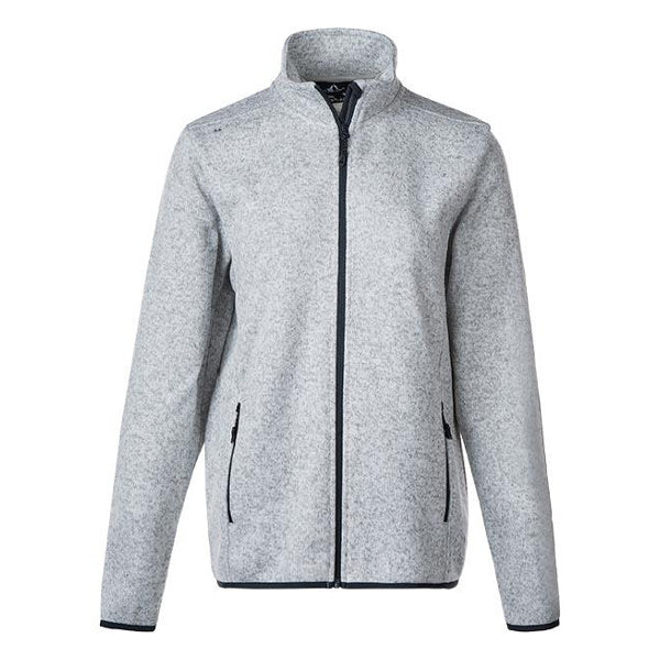 Whistler Maleo W Melange Fleece Jacket Pearl Grey