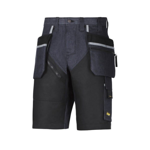 RuffWork Denim, shorts+ med hylsterlommer fra Snickers Workwear
