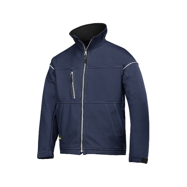 Navy Softshell jakke ideel til profilering fra Snickers Workwear