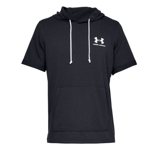 Under Armour Sportstyle Terry Short Sleeve Hoodie Sort