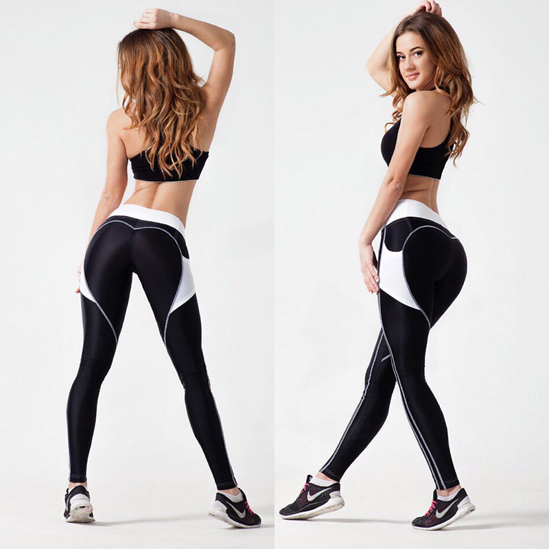 0f6137d4c5 Fashion Heart Leggings Women Fitness Workout Sporting Pants Breathable  Elastic Waist Gym Exercise Clothing For Women