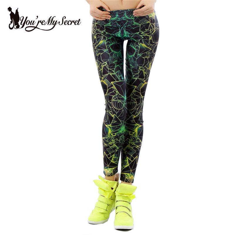 45551779beea6 Fashion Cartoon Comic Doodles Printing Plus Size Leggings High Elastic Women  Fitness Leggins Mujer Slim Pants