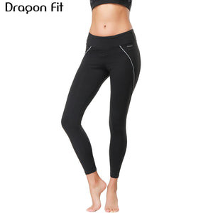 72e6e897cc Dragon Fit New Arrival Women Yoga Pants High Waist Sports Leggings  Sportswear Quick Dry Running Gym