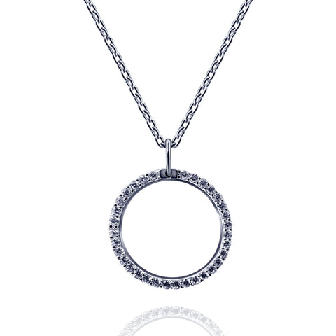 Halo Pendant Necklace - Kigmay Jewelry - New York