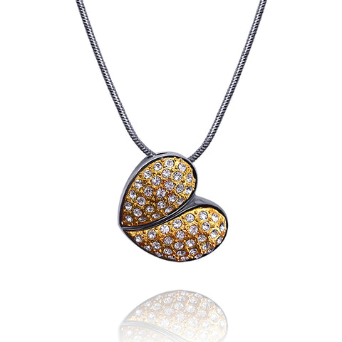 Rhinestone Heart Necklace - Kigmay Jewelry - New York