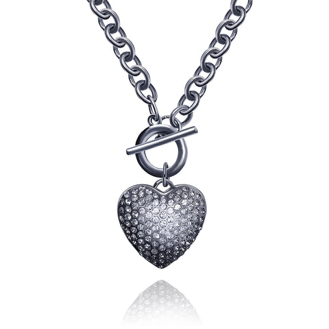 Heart Toggle Necklace - Kigmay Jewelry - New York