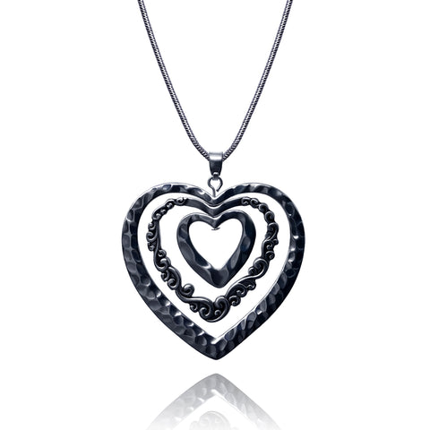 Visualization Triple Heart Necklace - Kigmay Jewelry - New York
