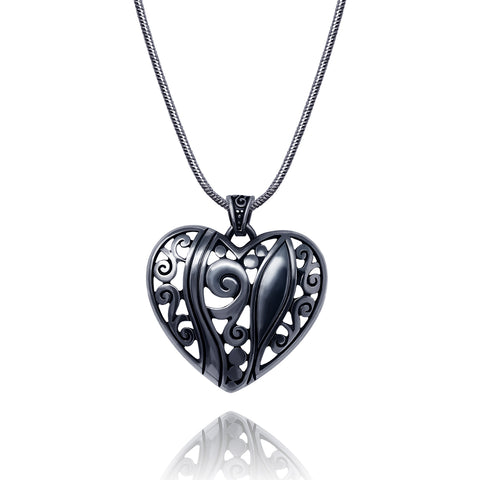 Filigree Heart Pendant Necklace - Kigmay Jewelry - New York