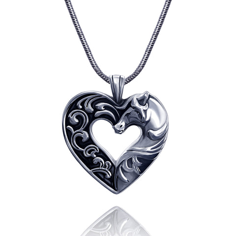 Noble Heart Horse Necklace - Kigmay Jewelry - New York