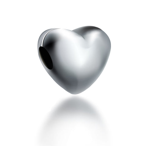Sterling Silver Heart Charm - Kigmay Jewelry - New York