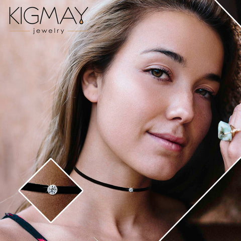 Black CZ Choker Necklace - Kigmay Jewelry - New York