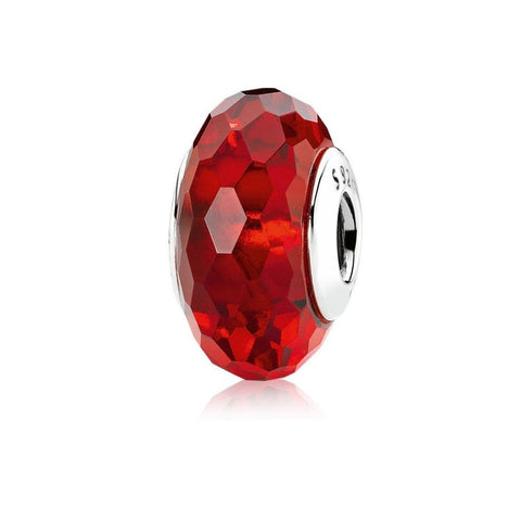 Red Glass Spacer Bead - Kigmay Jewelry - New York