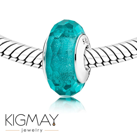 Faceted Green Spacer Bead - Kigmay Jewelry - New York