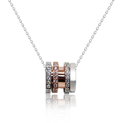 CZ Pipe Pendant Necklace - Kigmay Jewelry - New York