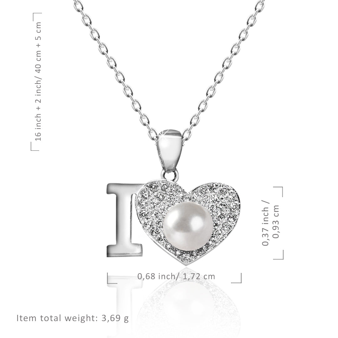 Heart Pearl Pendant Necklace - Kigmay Jewelry - New York