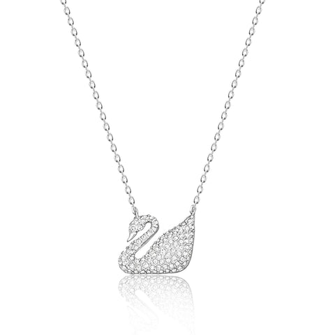 CZ Swan Pendant Necklace - Kigmay Jewelry - New York