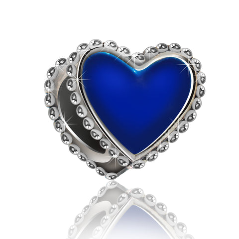 Blue Heart Charm Bead - Kigmay Jewelry - New York