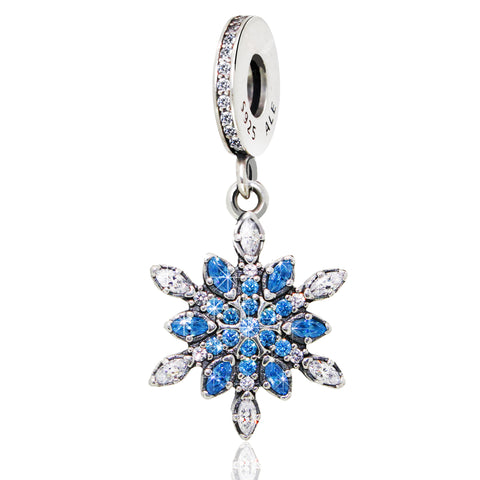 Sterling Silver Snowflake Charm - Kigmay Jewelry - New York
