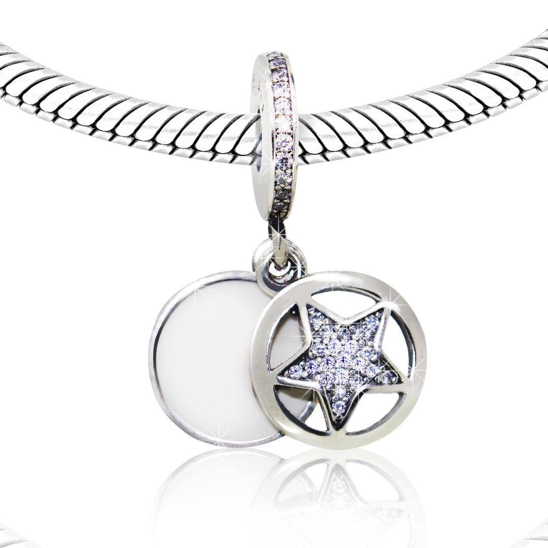 CZ Star Bracelet Charm - Kigmay Jewelry - New York