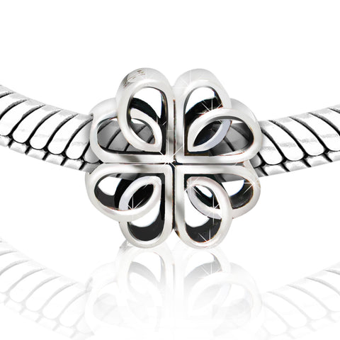 Silver Flower Heart Charm - Kigmay Jewelry - New York