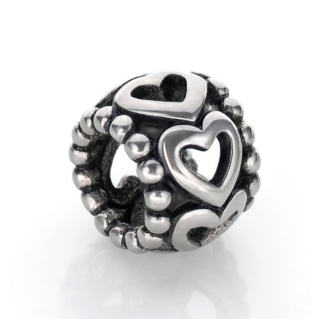 Cut Out Heart Spacer Bead - Kigmay Jewelry - New York