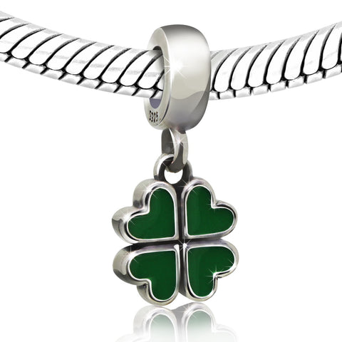 Irish Clover Heart Charm - Kigmay Jewelry - New York
