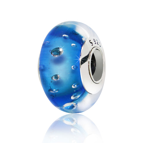Light Blue Charm Bead - Kigmay Jewelry - New York