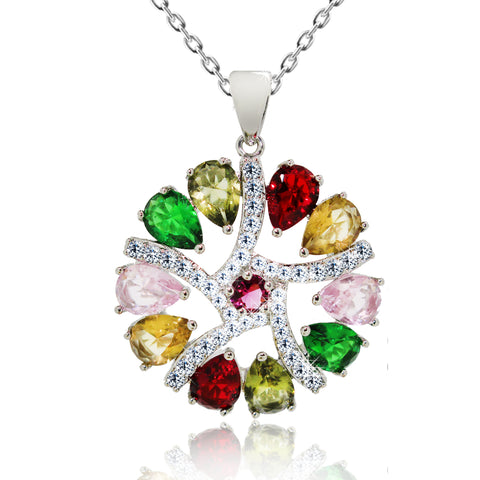 Multicolored CZ Necklace - Kigmay Jewelry - New York