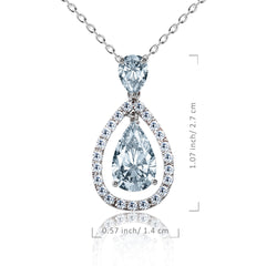 CZ Teardrop Pendant Necklace - Kigmay Jewelry - New York