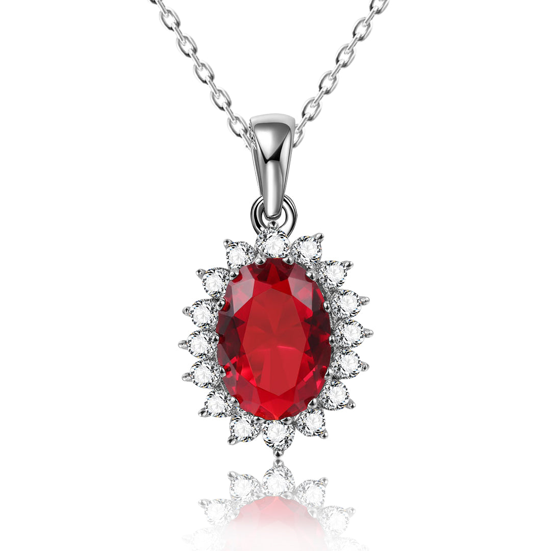 Red CZ Pendant Necklace - Kigmay Jewelry - New York