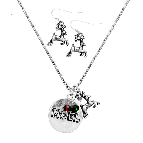 Metal Disc Pendant Rudolph Charm Necklace - Kigmay Jewelry - New York